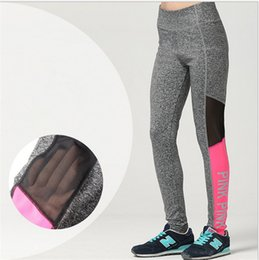 S Gym Pas Cher-VS Pink Sports Pants Gym Clothes Love Pink Running Collants Femmes Leggings de sport Fitness Yoga Pants