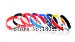 Chinese  Heat! Football team sports colorful wristbands 100% silicon Gym Fitness bracelet can be free wholesale 50pcs delivery manufacturers