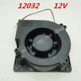 Discount dc centrifugal blower - Wholesale- 12032 blower Cooling fan 12 Volt Brushless DC Fans centrifugal Turbo Fan cooler radiator