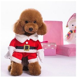 Dog Outwear Canada - 2017 new design Puppy Dog  cat Pet Clothes Christmas Outwear Coat Santa Claus Costume Hoodie Apparel