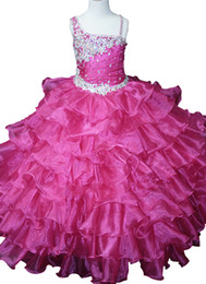 $enCountryForm.capitalKeyWord UK - Pageant Dress For Juniors Crytals Beaded Ball Gowns Flower Girls Straps Ruffles Party Ball Gowns Kids New Arrival Floor Length Dresses