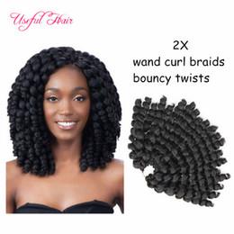 Crochet Braids Hair 8inch Bounce Jamaican Afro Fluffy Jumpy Wand Curls Kanekalon Twist Ombre Curl Soft Extensions
