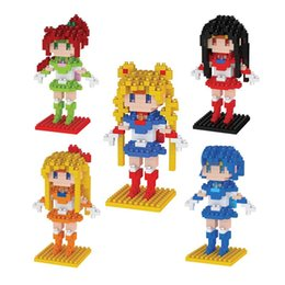 HC Anime Sailor Moon Princess Tsukino Usagi Diamond Mini Building Nano Block Toy