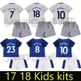 6b6c0939f top thai 2017 2018 Everton Kids kit Soccer Jerseys child teens Shirt 17 18  LUKAKU MIRALLAS LENNON BARKLEY ROONEY Home Away Football shirts ...