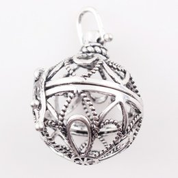 $enCountryForm.capitalKeyWord Australia - free shipping Bola Cage Pendant For Pregnant Mother Baby Sounder Ball Cage Locket Pendants Hollow Flowers Round 10pcs