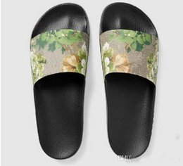China 2017 mens and womens fashion causal slippers boys &girls tian blooms print flower slide sandals unisex outdoor beach flip flops size 35-44 suppliers