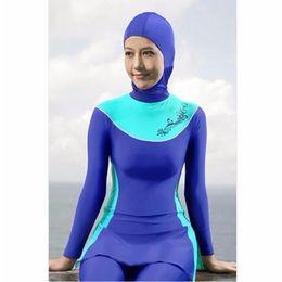 36aaa5602e3 Wholesale 2017 Full Coverage Muslim Swimwear Islamic Bodysuit Muslim Women  Conservatism Swimsuit Arab Swimming Beachwear Free Shipping