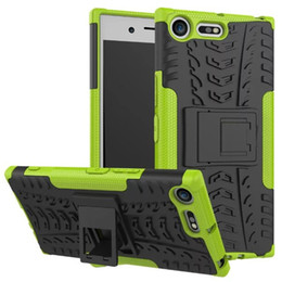 $enCountryForm.capitalKeyWord Australia - Shockproof Rubber Hard Armor Hybrid Rugged Case Protective Stand Cover for Sony Xperia XZ Premium