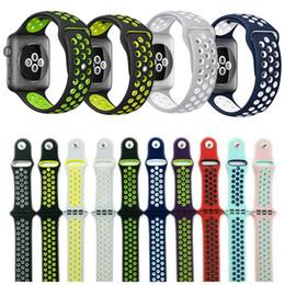 42mm 38mm s l tamanho barato borracha silicone colorido pulseira para apple watch 44mm 40mm cinta esportes pulseira para apple iwatch series 4 21 venda por atacado