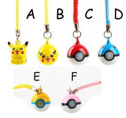 $enCountryForm.capitalKeyWord Australia - Pikachu The bell Keychains Pendant Key Chain backpack Key Ring Metal 2-1.5 cm randomization 100pcs Toy gifts Cute toys