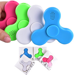 Chinese  New fidget Led Bluetooth Music Fidget Cube Spinner Finger HandSpinner EDC Hand Tri Spinner HandSpinner EDC Plastic Toy DHL oth439 manufacturers