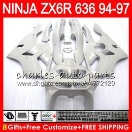 pearl white fairing 2019 - 8Gifts 23Colors For KAWASAKI NINJA ZX636 ZX6R 94 95 96 97 ZX-6R ZX-636 33NO25 600CC Pearl White ZX 636 ZX 6R 1994 1995 1