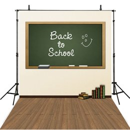 book backdrop NZ - Student Graduation Season Backdrop Vinyl Blackboard Books Back to School Children Kids Photo Backdrops with Wooden Floor