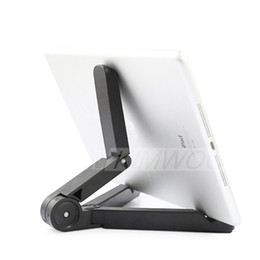 Discount adjustable support tablet - Universal Tablet PC Stands Foldable Adjustable Rotating Stand Holder Lazy Support for 5.0 -10 inch Phone and iPad 2 3 4