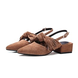$enCountryForm.capitalKeyWord UK - women ankle strap pointed toe bowtie buckles shoes block retro sandals