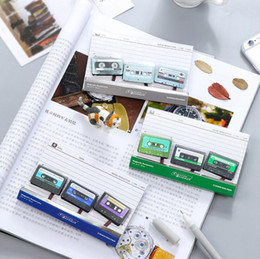 stationery magnets NZ - Mini Lovely Magnetic Tape Magnet Bookmark Paper Clip School Office Supply Escolar Papelaria Gift Stationery