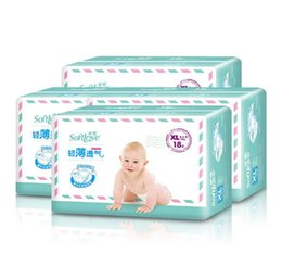 $enCountryForm.capitalKeyWord Australia - Lowest Price 2017 Factory sale Wholesale Baby Diapers Economy Pack Three-demensional leakproof locks in urine Cotton-thin Size XL W17JS486