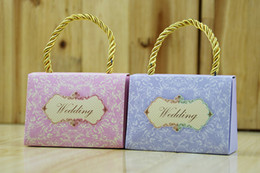 luxury chocolate gifts Canada - 2017 New Handbag Style Wedding Favor Boxes Candy Box Luxury European Romantic Gifts Boxes Chocolate Holders