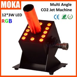 $enCountryForm.capitalKeyWord Canada - Factory Direct Sales 12*3w Led co2 jet machine DMX 512 RGB 3IN1 co2 cannon CO2 Jet device for event party Disco Night club