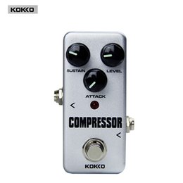 Wholesale new arrival Guitar Parts Accessories KOKKO FCP2 Mini Compressor Portable True bypass Guitar pedal board