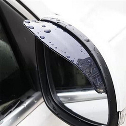 Chinese  Wholesale- Black 2pcs PVC Car Rear view Mirror sticker rain eyebrow weatherstrip auto mirror Rain Shield shade cover protector guard manufacturers