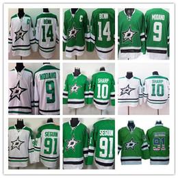 Dallas Stars NHL Hockey Jerseys 14 Jamie Benn 91 Tyler Seguin 10 Patrick  Sharp 90 Jason Spezza 9 Modano 43 Nichushkin Green Jerseys Stitched nhl  star ... 27ac0e124
