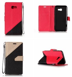 samsung galaxy j1 mini pouch NZ - Bling Dual Color Sand Wallet Leather Pouch Case For Samsung Galaxy S8 2017 A3 A5 A7 J3 J5 J7 J1 Mini Prime Matte Strap Stand Cover 150pcs
