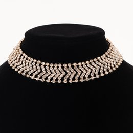 wedding gold crystals Australia - Accessories wholesale Top Quality Classic Crystal Wedding Necklace Rose Gold Color Fashion Jewellery The bride adorn article