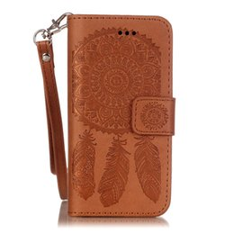 $enCountryForm.capitalKeyWord UK - For Apple iPhone 5S 5SE 6S 6Plus 7S 7plus Samsung Galaxy S5 S6 S6Edge S7 S7 Edge Case Dream Catcher PU Leather Wallet Rope Card Slots Cover