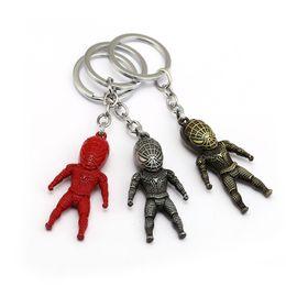 Discount metal spiderman - 2017 New Arrival Spiderman Keychain Super Hero Metal Figure Key Ring Holder Car Bag Chaveiro Key Chain Pendant Movie Jew