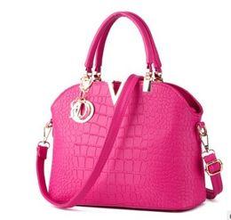 Chinese  2017 Famous brand designer Luxury leather handbags women messenger bag Ladies crocodile pattern Shoulder bag Crossbody multi colors manufacturers