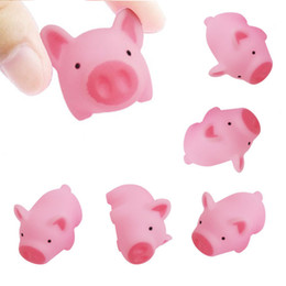 pink pig toys Canada - New Cute Pink Pig Healing Squeeze Decompression Kids Toy Stress Reliever Funny Children Gift Free Shipping