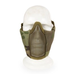 Airsoft fields online shopping - 12Colors Tactical Cs Field D Nylon Metal Wire Lower Half Face Mask Airsoft Paintball Metal Steel Net Mesh Mask Sport
