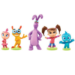 2017 5pcs set Kate And Mim Mim Friends 5-10cm Cartoon Action Figures Lovely Character Kids Birthday Gifts