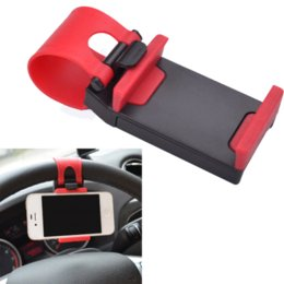 China Universal Car Steering Wheel Mobile Phone Holder Bracket for iPhone 4 4S 5 6 6s Samsung Galaxy S4 S5 S6 Note 3 cheap s4 phone holder suppliers
