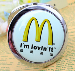 personalized makeup mirror 2021 - Professional Supplier of Metal Cosmetic Mirror Personalized logo Round Compact pocket Makeup Mirror Company Gifts Favor Free shipping DHL