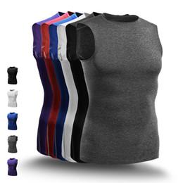 Hot Fashion Basketball Westen Männer Kompression Top Gym Fitness Laufwesten männlichen Sport ärmelloses T-Shirt Gym Jogger Kleidung tragen Plus Größe