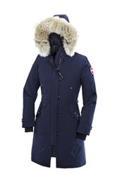 Barato Pêlo De Mulher Parka-2017 canada New Arrival sale WOmen's Down Parka Chateau Black Navy Grey Jacket Winter Coat Parka Fur Sale com saída de saída Outlet AAA