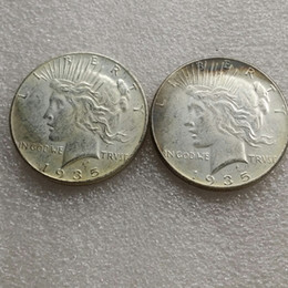 two face coin UK - US head-to-head 1935 Peace Dollar Two face Copy Coin - Free Shipping
