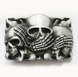enamel belt buckles 2019 - Men Belt Buckle New Vintage Original Black Enamel Flame Shy Skulls Tattoo Belt Buckle Gurtelschnalle Boucle de ceinture