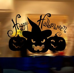 Glasses Trade Australia - Foreign trade vinly Halloween series glass window living room bedroom decoration wall stickers