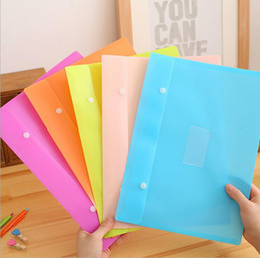 $enCountryForm.capitalKeyWord Canada - korean stationery filing supplies cute candy color waterproof pvc file folders snap document bag filing bag storage bag
