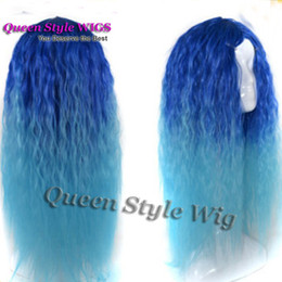 Wig Grey Australia - Beauty Long Curly Synthetic Hair Wig Synthetic Heat Resistant no Lace Front Wig Kinky Curly Black Ombre Silver grey Wigs for Black Women