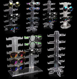 wholesale sunglasses display UK - 3 Styles can be choices Eyeglasses Sunglasses Frame Plastic Glasses Display Rack Stand Holder Free Shipping