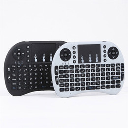 Мини Rii i8 беспроводная клавиатура 2.4 G английский Air Mouse клавиатура пульт дистанционного управления сенсорная панель для смарт-Android TV Box ноутбук Tablet Pc
