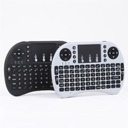 مصغرة Rii i8 لوحة المفاتيح اللاسلكية 2.4G اللغة الإنجليزية الهواء لوحة المفاتيح التحكم عن بعد لوحة اللمس الذكية الروبوت التلفزيون مربع الكمبيوتر اللوحي اللوحي
