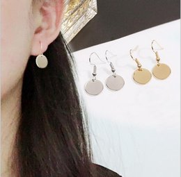 $enCountryForm.capitalKeyWord NZ - Europe and the United States minimalist geometric metal mini wafer circular earrings wholesale free shipping