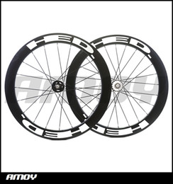 Bicycling Gear NZ - 25mm width HED paint 60mm Depth fixed gear carbon wheelset full carbon 700C road track bike bicycle wheelswheels