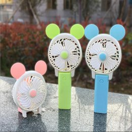 personal cooling fan 2019 - Personal Fans Portable Mini Handheld electric Fan Lithium Battery Rechargeable Micro USB Multi-Function Fan Cool Cooler