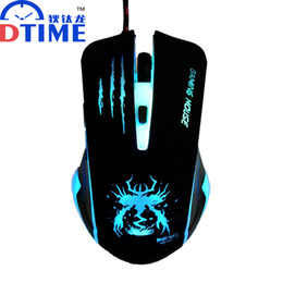 car lights Australia - Wholesale- DTIME Wired Optical USB LED Light Computer PC Game Gamer Gaming Mouse Mice Mause For Dota 2 CS Games Car Laptop Raton souris